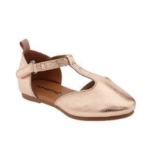 Metallic T-Strap Flats for Baby Old Navy