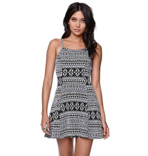 LA Hearts Textured Fit And Flare Dress PacSun