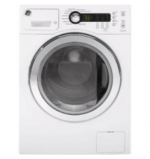 GE 2.2 DOE cu. ft. Front Load Washer in White Home Depot