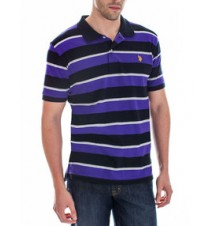 Striped Small Logo Polo Shirt