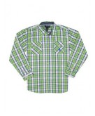 Boys Long Sleeve Plaid Shirt..