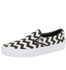 Classic Slip On Chevron Black White Robert Wayne Footwear
