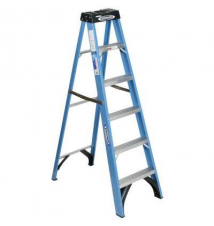 Werner 6 ft. Fiberglass Step Ladder with 250 lb. Load Capacity Type I Duty Rating Home Depot