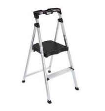 Easy Reach by Gorilla Ladders 2-Step Aluminum Ultra-Light Step Stool Ladder with Project Top 225 lb. Capacity Home Depot