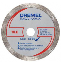 Dremel SawMax 3 in. Diamond Tile Wheel Home Depot