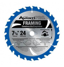 Avanti Pro 7-1/4 in. x 24 Tooth Framing Circular Saw Blade Home Depot