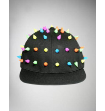 Neon All Over Spikes Flatbill Hat Spencer's