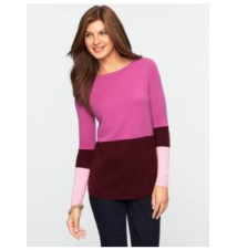 Cashmere Colorblocked Sweater Talbots