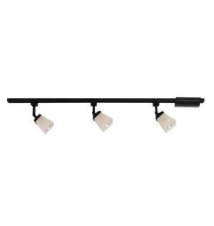 Hampton Bay 3-Light Linen Glass Linear Track Kit Matte Black Finish Home Depot