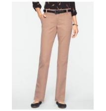Signature Peached Broken-Twill Straight-Leg Pants Talbots
