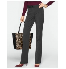 Heritage Refined Bi-Stretch Bootcut Pants Talbots
