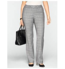 Heritage Fit Glen Plaid Bootcut Pants Talbots