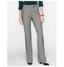 Curvy Fit Glen Plaid Bootcut Pants Talbots