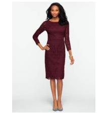 Autumn Leaf Lace Dress Talbots