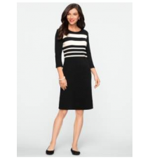 Blocked-Stripe Dress Talbots