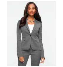 Dobby-Weave Single-Button Jacket Talbots