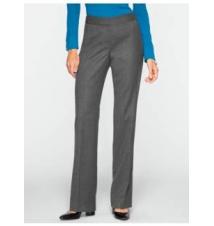 Curvy Italian Flannel Wide-Leg Trousers Talbots