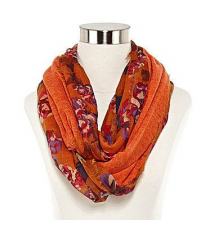 Floral Knit-Lining Loop Scarf JCPenney