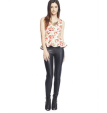 Cut-Out Floral Peplum Tank The Wet Seal