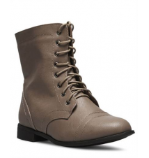 Lace-Up Combat Boots - Wide Width The Wet Seal