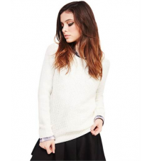 Classic Waffle Knit Sweater The Wet Seal