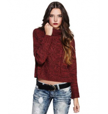 Cable-Knit Turtleneck Sweater The Wet Seal