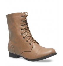 Solid Lace-Up Combat Boots The Wet Seal