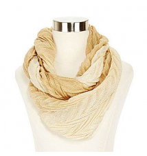Crinkle Ombré Loop Scarf JCPenney