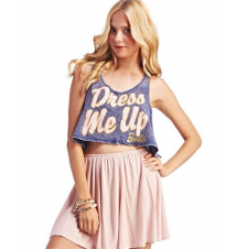 Barbie Dress Me Up Crop Tank The Wet Seal