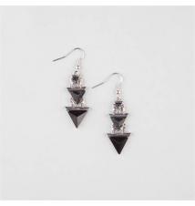 FULL TILT Laddered Triangle Earrings Tilly's