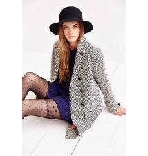 Edith & Ella Mod Pea Coat Urban Outfitters