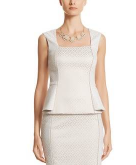 Jacquard Sleeveless Top White ..
