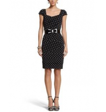 Instantly Slimming Dot Tiered Dress White House/Black Market