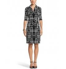 Geo Print Shirt Dress White House/Black Market
