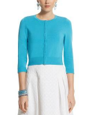 3/4 Sleeve Cropped Cardigan Wh..