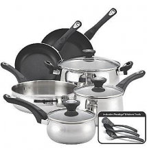 Farberware New Traditions 12-pc. Stainless Steel Cookware Set JCPenney