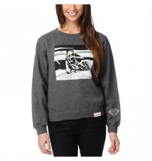 DIAMOND SUPPLY Diamond Supply Co Brilliant Glass Charcoal Crew Neck Sweatshirt Zumiez