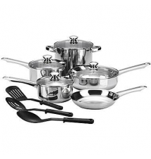Cooks 12-pc. Essential Stainless Steel Cookware Set JCPenney
