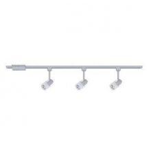 Hampton Bay Linear 3-Light Brushed Steel Track Lighting Kit Home Depot