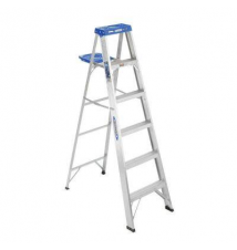 Werner 6 ft. Aluminum Step Ladder with 250 lb. Load Capacity Type I Duty Rating Home Depot