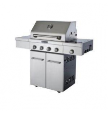 KitchenAid 4-Burner Propane Gas Grill with Side Burner and Grill Cover Home Depot
