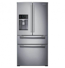 Samsung 33 in. W 24.73 cu. ft. French Door Refrigerator in Stainless Steel Home Depot