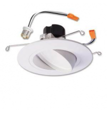 Halo 5 in.and 6 in. Matte White Recessed LED Adjustable Gimbal Module 90 CRI, 3000K Home Depot