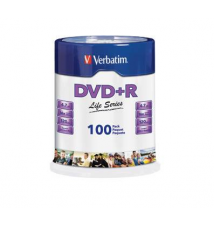 Verbatim - 100-Pack 16x DVD+R Disc Spindle OfficeMax