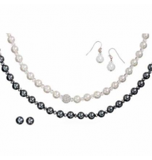 Genuine mother-of- pearl necklace and earrings set Kohl's