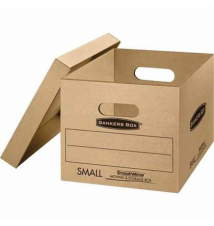 SmoothMove Small Classic Moving and Storage Boxes, 5/Bundle Staples