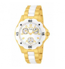 Ladies' Invicta Angel Chronograph Ceramic Watch with White Dial (Model: 1655) Zales