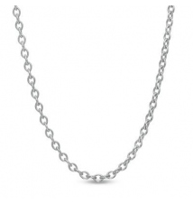 14K White Gold 1.1mm Cable Chain Necklace - 16