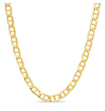 10K Gold 3.2mm Mariner Chain Necklace - 20