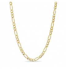 10K Gold 5.0mm Figaro Chain Necklace - 20